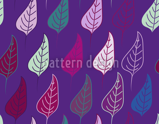Leaf Parade Repeat Pattern