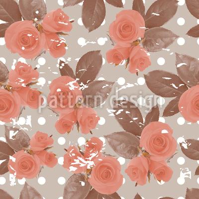 Rosen Nostalgie Musterdesign