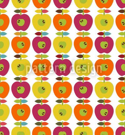 Retro Apfel Designmuster