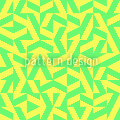 Geometric Lemonade Seamless Vector Pattern