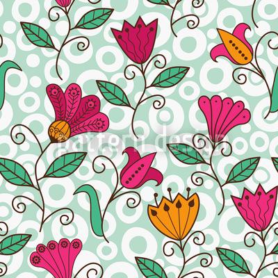 Florale Süsse Vektor Muster