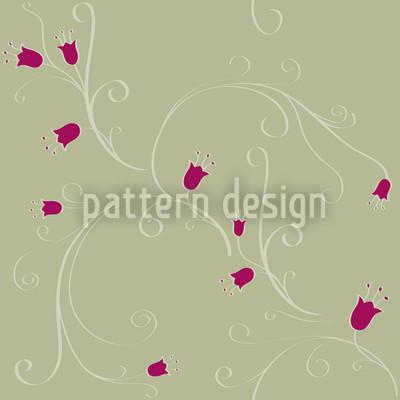 Glockenblumen Ranken Vektor Muster
