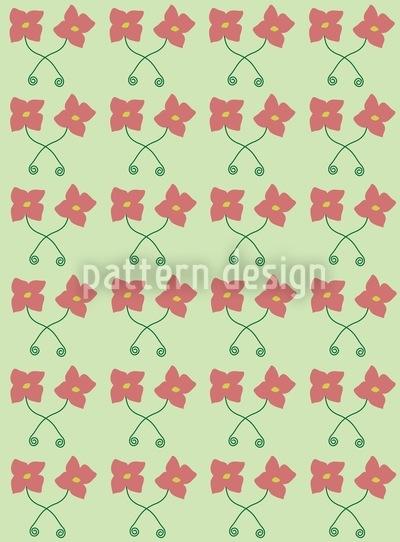 Blumen Paare Musterdesign