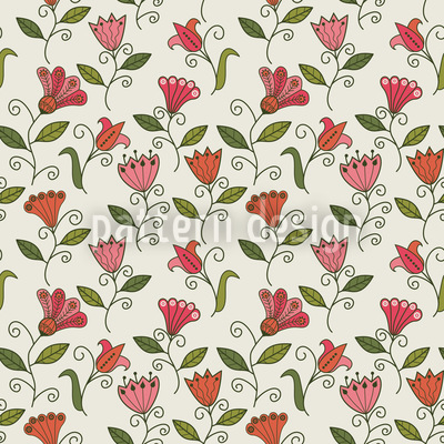 Sweet Flower Memories Seamless Vector Pattern