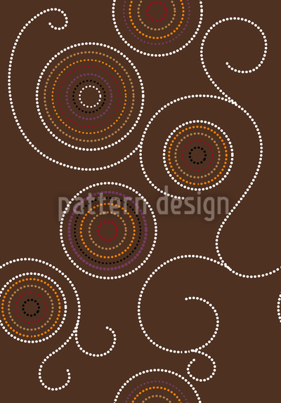 Aborigine Twirls Repeat Pattern