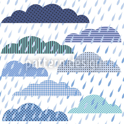 Rain Cloud Patchwork Pattern Design