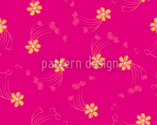 Florale Herzverbindung Vektor Design