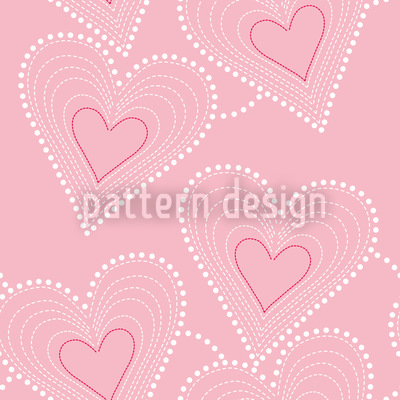 Sewing Hearts Repeating Pattern