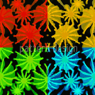 Pop Art Succulents Repeating Pattern