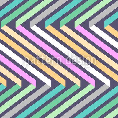 Bänder Im Zick Zack Vektor Muster