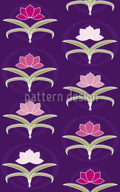 Tender Lilies Vector Ornament