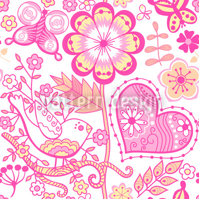 Garden Of Sweet Romance Repeating Pattern