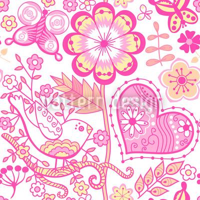 Garten Der Süssen Romantik Rapportiertes Design