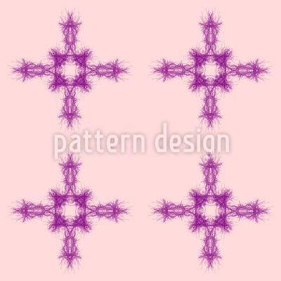 Organic Cross Vector Pattern