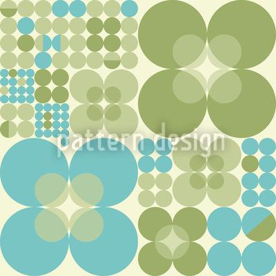 Retro Kreis Frühling Muster Design