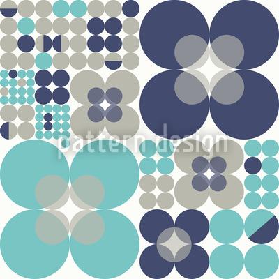 Retro Circle Winter Pattern Design