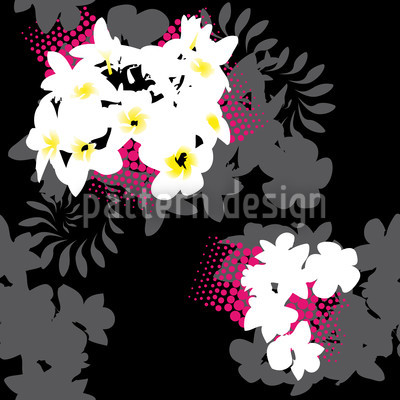 Beach Flowers Repeating Pattern