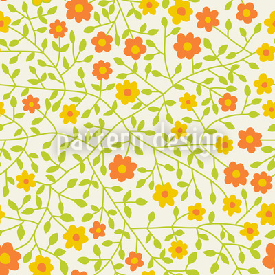 Wild Roses In The Sun Pattern Design