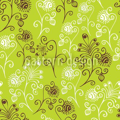 Spring Feelings Of Fantasy Flowers Seamless Pattern
