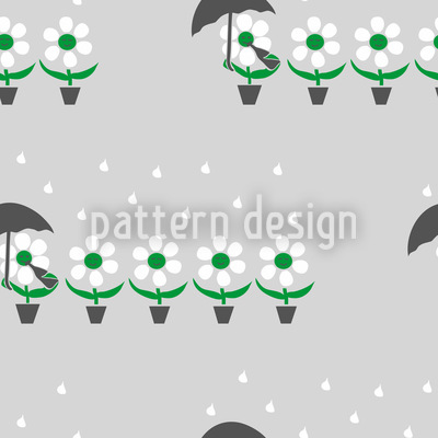 Blumen Im Regen Vektor Design