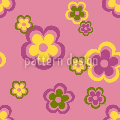 Partyblumen Der Siebziger Designmuster