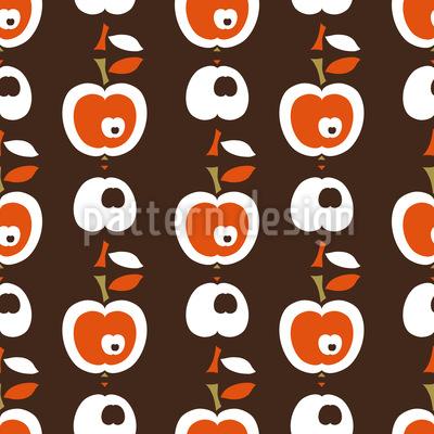 Äpfel In Schokolade Nahtloses Vektor Muster