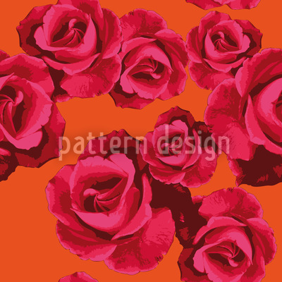 Roses For You Vector Pattern