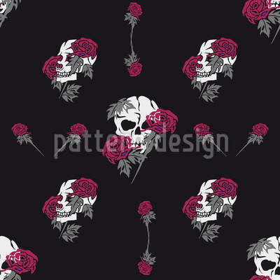 The Grave Of Rocky Rose Seamless Pattern