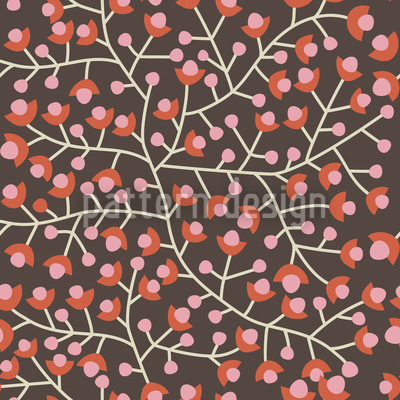 Nordic Floral Seamless Vector Pattern