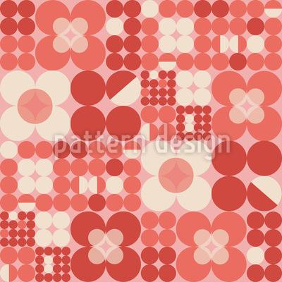 Runde Retro Blumen Vektor Muster