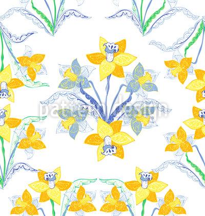 Kunstvolle Narzissen Musterdesign
