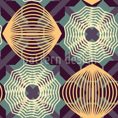 Spiral Illusion Seamless Pattern