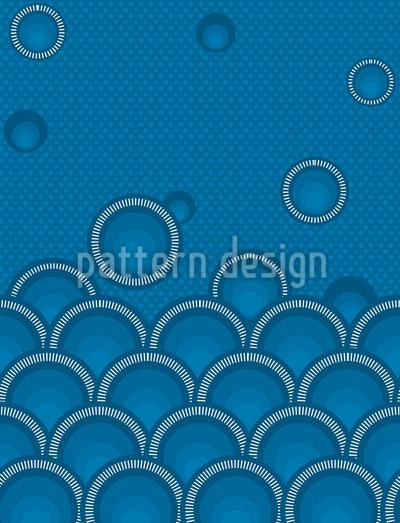 Ozean Der Kreise Nahtloses Muster