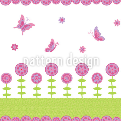 Butterfly Happiness Seamless Pattern