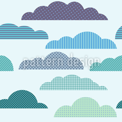 Cloudy Patchwork Seamless Vector Pattern