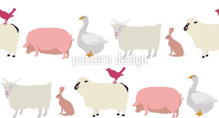 Tiere Im Gänsemarsch Rapportiertes Design