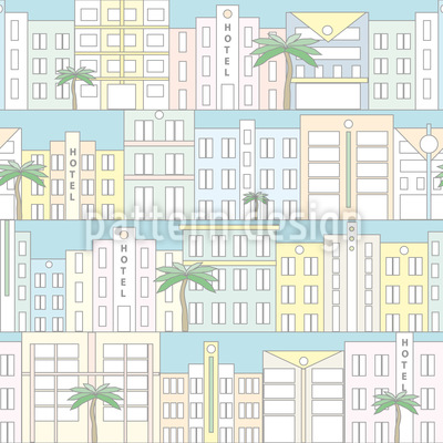 Miami Beach Repeat Pattern