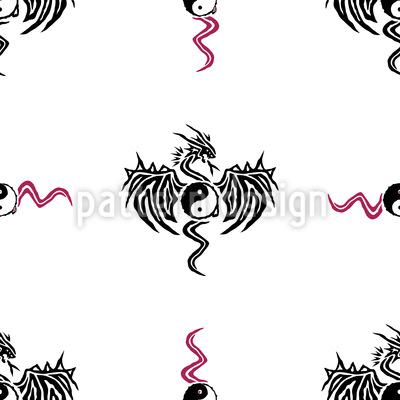Yin Yang Dragon Design Pattern