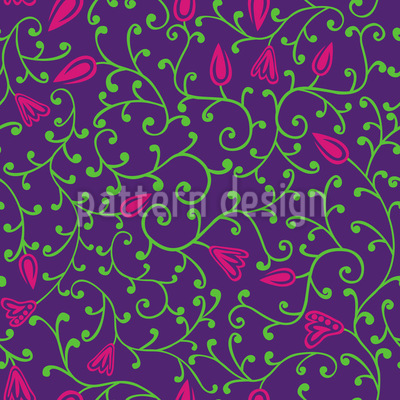Floral Night Seamless Pattern