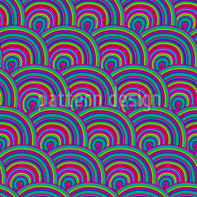 Süsses Im Regenbogenformat Nahtloses Vektor Muster