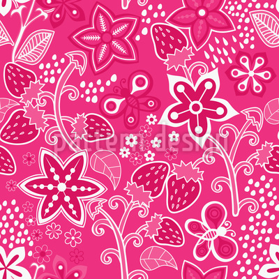 Strawberry Secret Vector Design