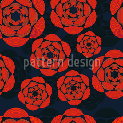 Nacht Rosen Vektor Muster