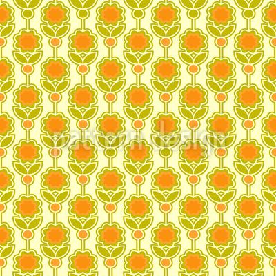Siebzig Blumen Vektor Ornament
