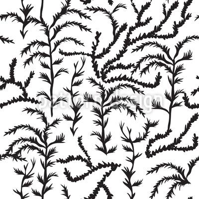 Zypressen Impression Nahtloses Vektor Muster