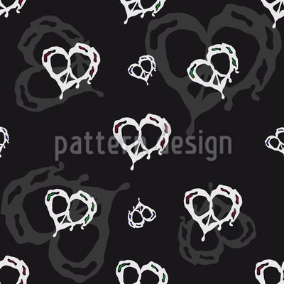 Heart In Peace Repeating Pattern