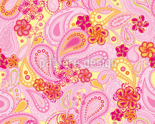 Endless Summer Of Paisley Repeating Pattern
