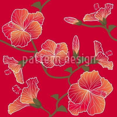 Roter Hibiskus Musterdesign