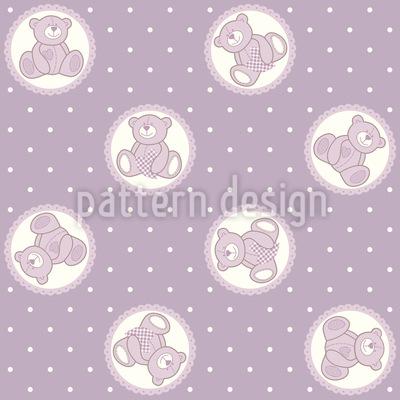 Baby Lauras Teddybär Vektor Muster