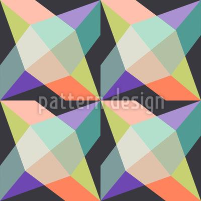 Kristall Carrington Nahtloses Vektor Muster
