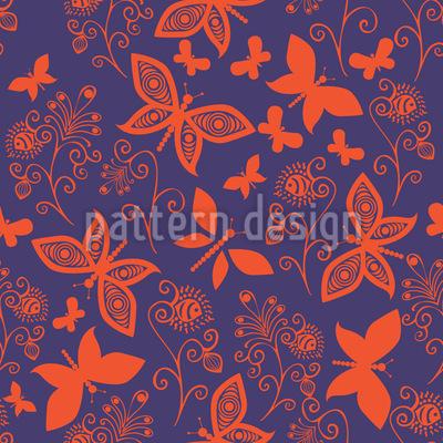 Späte Schmetterling Romanze Rapportiertes Design